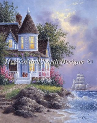 Heaven and Earth - Seaside Victorian Cross Stitch Chart