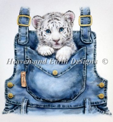 Heaven and Earth - Pocket White Tiger Cross Stitch Chart