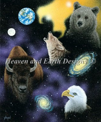 Heaven and Earth - Living Universe Cross Stitch Chart