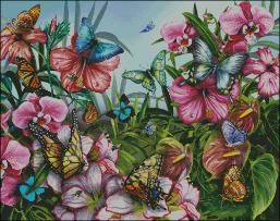 Shinysun's - Butterfly Garden Cross Stitch Chart