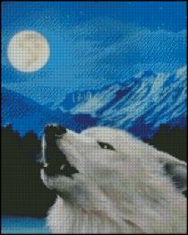 Shinysun's - Arctic Wolf Cross Stitch Chart