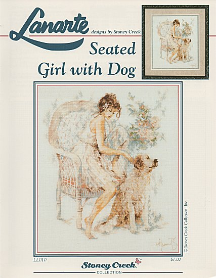 Seated Girl with Dog - Chart Only