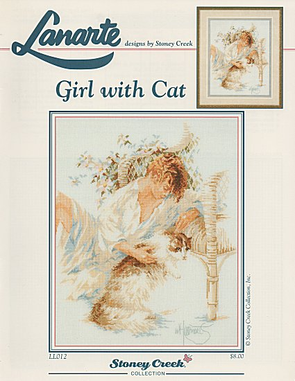 Girl with Cat - Chart Only