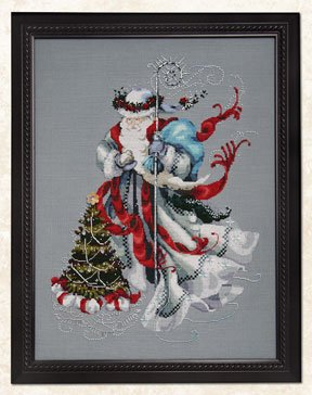 Mirabilia - Winter White Santa Cross Stitch Chart