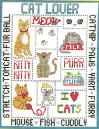 Cat Lover Cross Stitch Chart Only
