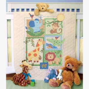 Baby Hugs Savannah Quilt Stamped Cross Stitch Kit