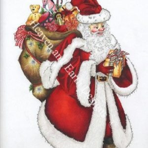 Heaven and Earth - Santa Cross Stitch Chart