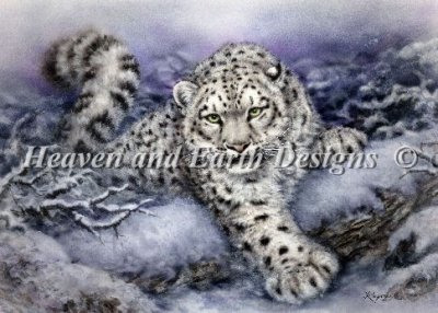 Heaven and Earth - Snow Forest Cross Stitch Chart