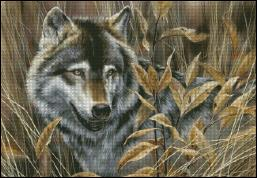 Shinysun's - Sunlight Timber Wolf Cross Stitch Chart