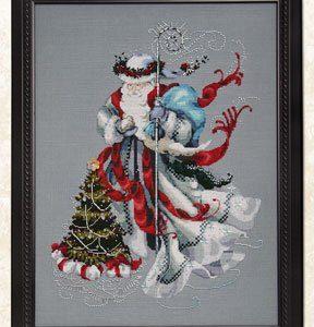 Mirabilia - Winter White Santa Cross Stitch Chart