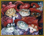 Mystic Stitch - Red Hat Cats Cross Stitch Chart