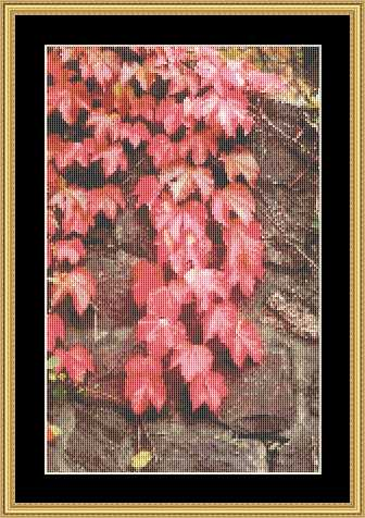 Mystic Stitch - Leaves on Wall Chart Only
