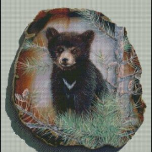 Shinysun's - Black Bear Cross Stitch Chart