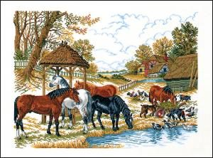 Horses at Water Hole